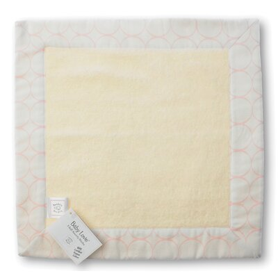 Swaddle Designs Certified Organic Cotton Baby Lovie in Pastel with Mod Circles on Ivory