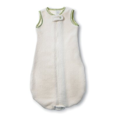Swaddle Designs Organic zzZipMe Sack in Natural with Kiwi Trim