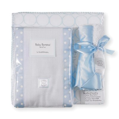Swaddle Designs 3 Piece Gift Set in Pastel Mod Circles on White