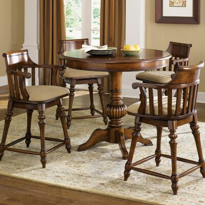 Liberty Furniture Crystal Lakes Counter Height Pub Table Set