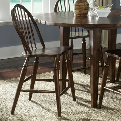 Liberty Furniture Cabin Fever Formal Dining Windsor Back Barstool in Bistro Brown