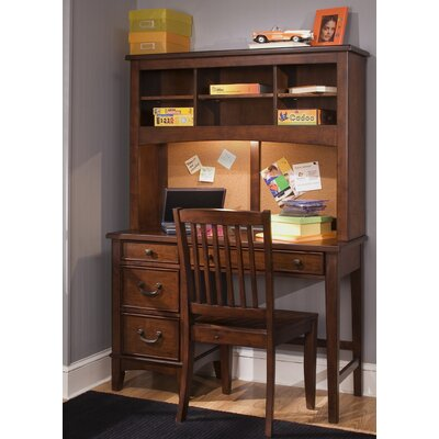 "Liberty Furniture Chelsea Square Youth Bedroom 44"" W Computer Desk with Hutch"