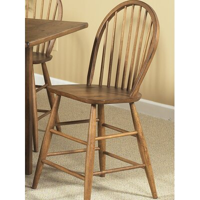 Farmhouse Casual Dining Counter Height Chair in Weathered Oak