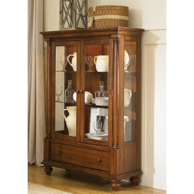Liberty Furniture Americana Lighted Display Cabinet in Chestnut