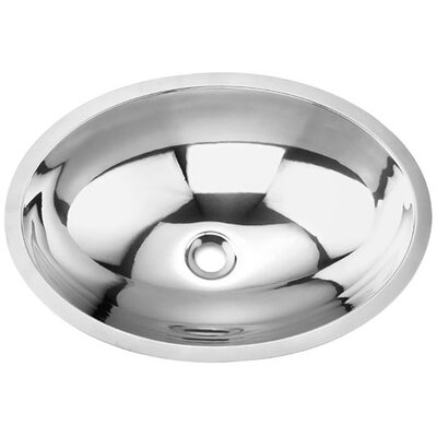 Yosemite Home Decor Stainless Steel Oval Undermount Bathroom Sink