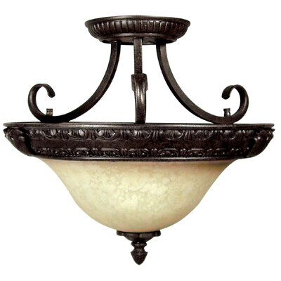 Verona 3 Light Semi Flush Mount