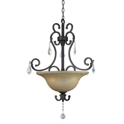 Jessica 3 Light Foyer Inverted Pendant