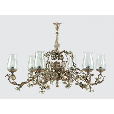 Yosemite Home Decor Morning Glory 6 Light Chandelier