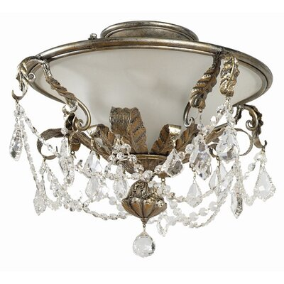 Yosemite Home Decor Swag 3 Light Semi Flush Mount