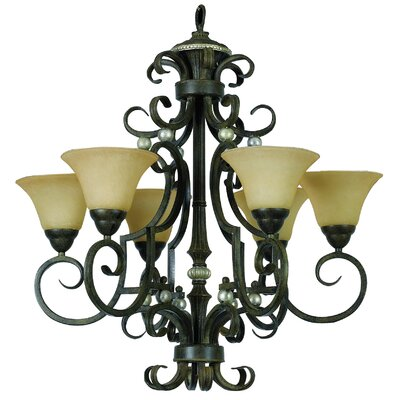 Mariposa 6 Light Chandelier