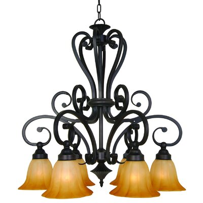 Yosemite Home Decor Florence 6 Light Chandelier