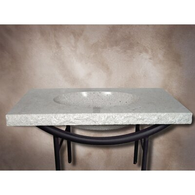 Firestine Hand Made Pedestal Bathroom Sink Set - FIRESTINE-24 / NATHAN
