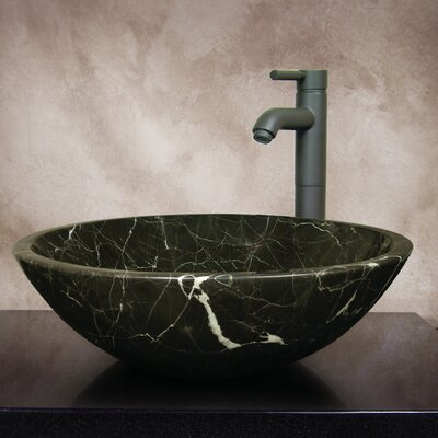 Linda Hand Carved Round Vessel Bathroom Sink - LINDA