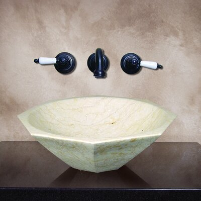 Yosemite Home Decor Lasair Hand Carved Vessel Bathroom Sink
