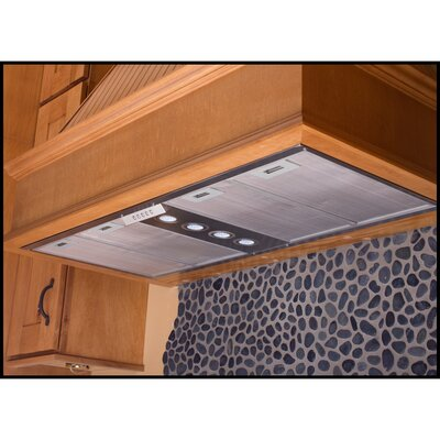 "Yosemite Home Decor Insert Series 42"" Stainless Cabinet Range Hood with LED Lighting"