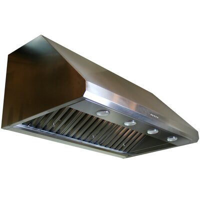 "Yosemite Home Decor Professional Series 42"" Stainless Range Hood with LED Lighting and Baffle Filters"
