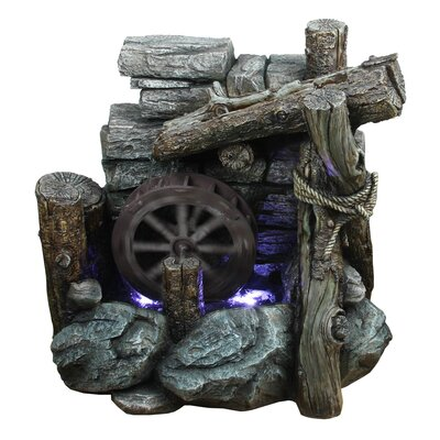 Yosemite Home Decor Wagon Wheel Fountain