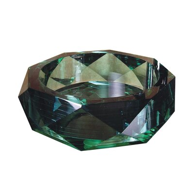 Yosemite Home Decor Jade Diamond Glass Bathroom Sink