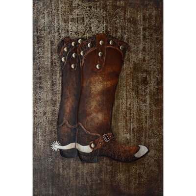Revealed Art Cowboy Boots Original Painting on Canvas