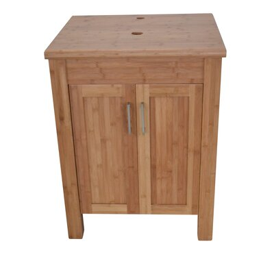 "Yosemite Home Decor Bamboo 24"" Bathroom Vanity Set"