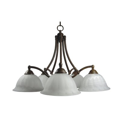 Yosemite Home Decor Spice 5 Light Chandelier