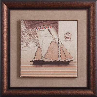 New Revealed Art Come Sail Away Framed Graphic Art