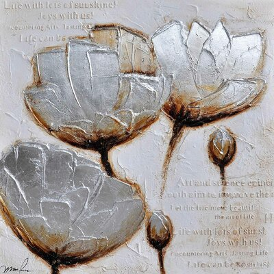 Revealed Art Frosted Petals II Original Painting on Canvas