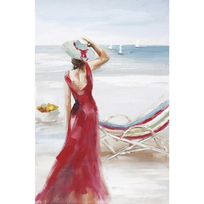 Outlook On The Beach I Canvas Art