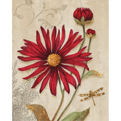 Crimson Blooms Canvas Wall Art