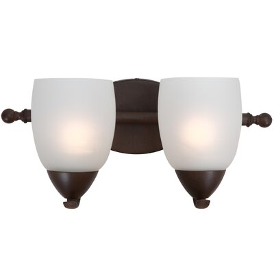 Yosemite Home Decor Mirror Lake 2 Light Bathroom Vanity Light