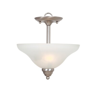 Yosemite Home Decor Aulin 2 Light Semi Flush Mount