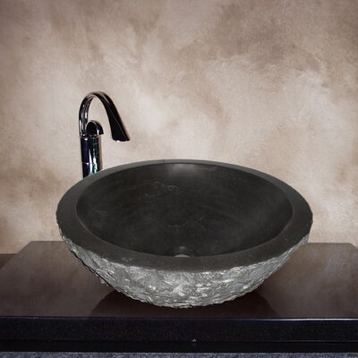 Yosemite Home Decor Hand Carved Classic Round Vessel Bathroom Sink