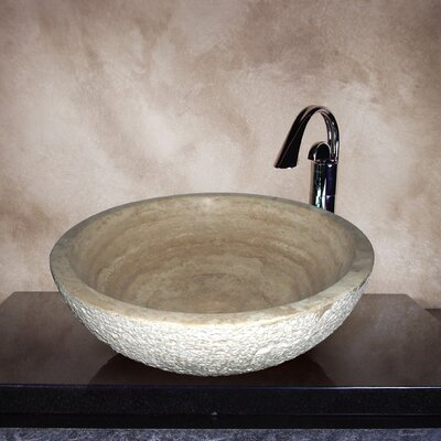 Hand Carved Classic Round Vessel Bathroom Sink - MARCIA