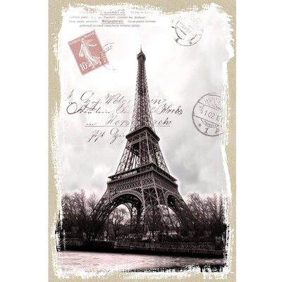 Revealed Artwork Eiffel on Linen Graphic Art on Canvas