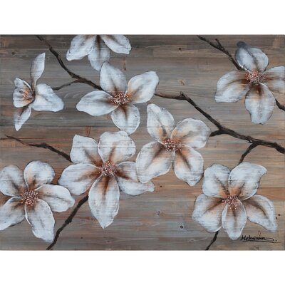 Yosemite Home Decor Revealed Artwork Wooden Blossom I Canvas Wall Art