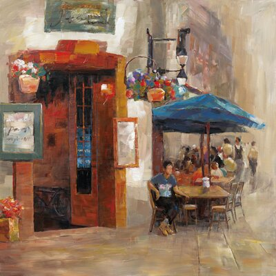 Revealed Artwork Outdoor Dining II Original Painting on Canvas