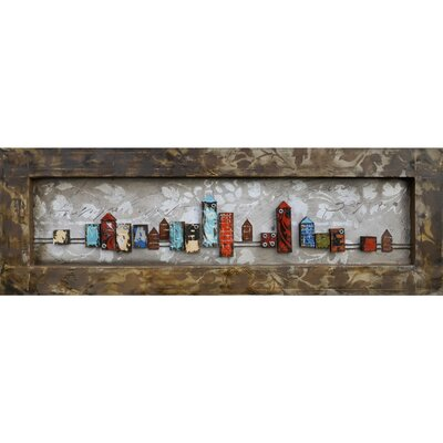 Revealed Artwork City Daylight Framed Original Painting