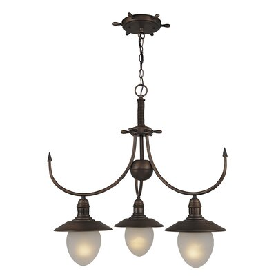 Nautical 3 Light Chandelier