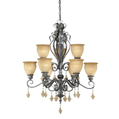 Vaxcel Montmarte 9 Light Chandelier