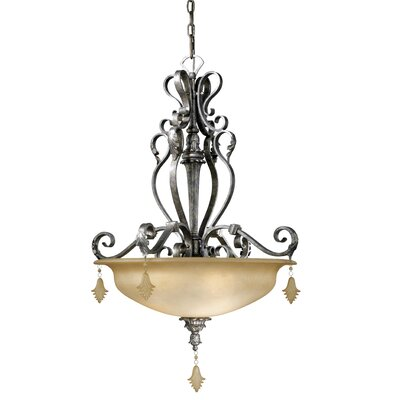 Vaxcel Montmarte 3 Light Inverted Pendant