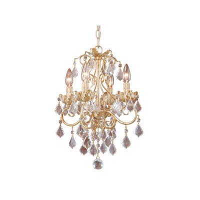 Vaxcel Newcastle 4 Light Chandelier