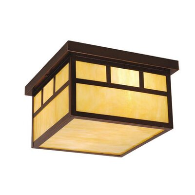 Vaxcel Mission 2 Light Outdoor Flush Mount