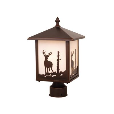 Vaxcel Yellowstone Deer 1 Light Outdoor Post Lantern
