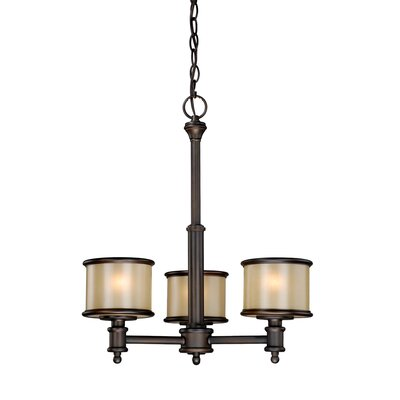 Vaxcel Carlisle 3 Light Chandelier