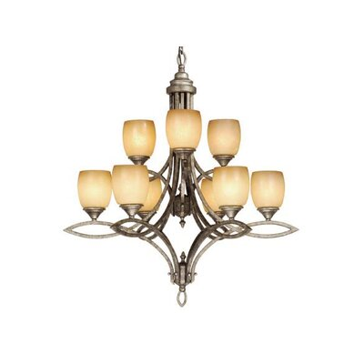 Vaxcel Pisces 9 Light Chandelier