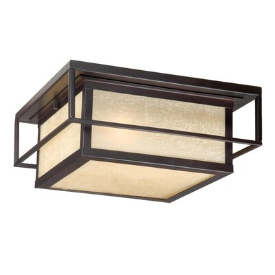 Vaxcel Robie Outdoor Flush Mount in Espresso Bronze