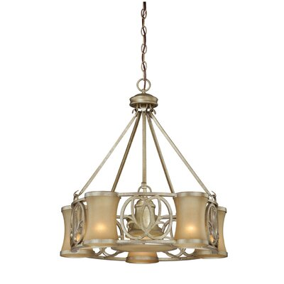 Vaxcel Newbury 6 Light Chandelier