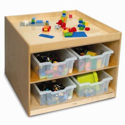 Whitney Brothers Discovery Table 2 Compartment Cubby