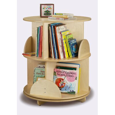 "Whitney Brothers 32"" H Two Shelf Book Carousel"