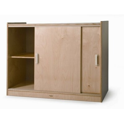 Whitney Brothers Sliding Doors Storage Cabinet